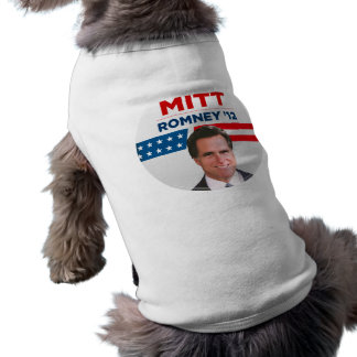 Mitt Romney for US President 2012 Pet Shirt