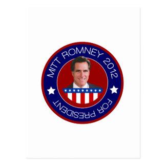 Mitt Romney for US President 2012 Postcard