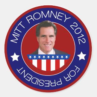Mitt Romney for US President 2012 Stickers