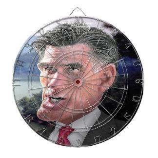 Mitt Romney Funny Dartboard by Rick London Dart Board