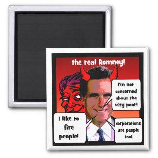 Mitt Romney gaffs 2 Inch Square Magnet