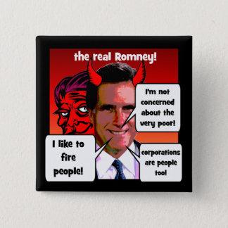 Mitt Romney gaffs Pinback Button