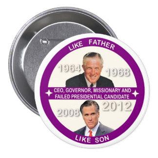 Mitt Romney & George Romney Pinback Buttons