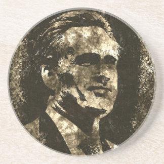 Mitt Romney Grunge Art Portrait Drink Coaster