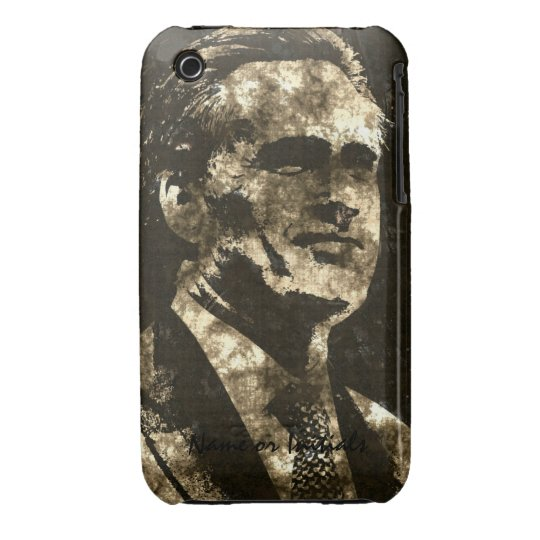 Mitt Romney Grunge Art Portrait iPhone 3 Case