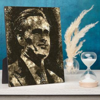 Mitt Romney Grunge Art Portrait Photo Plaques