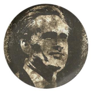 Mitt Romney Grunge Art Portrait Dinner Plate