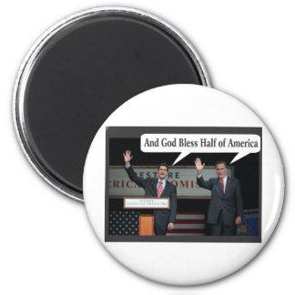 Mitt Romney Hates you 47% Vote for Barack Obama 2 Inch Round Magnet