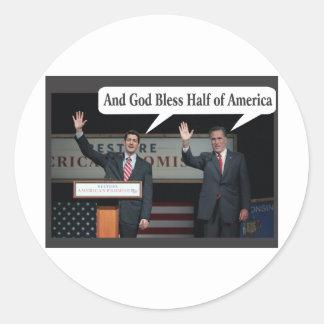 Mitt Romney Hates you 47% Vote for Barack Obama Classic Round Sticker