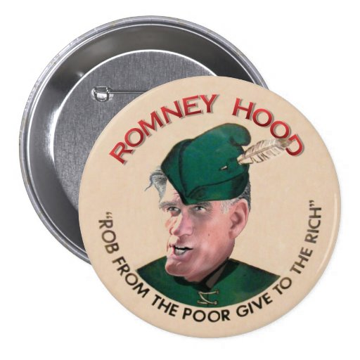 Mitt Romney Hood 2012 Pinback Button