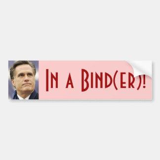 Mitt Romney - In a Bind er Bumper Stickers