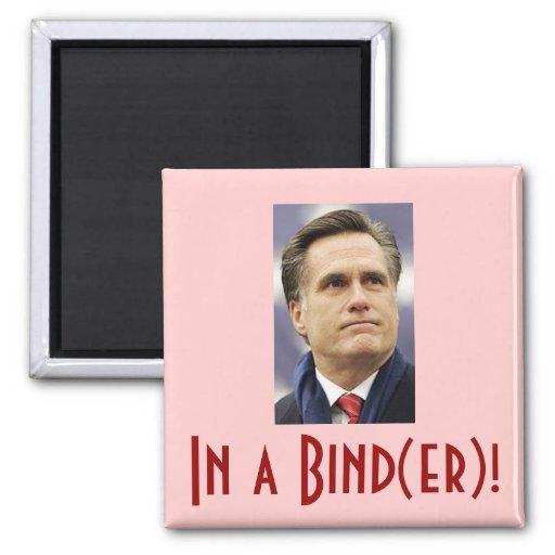 Mitt Romney - In a Bind(er)! Fridge Magnet