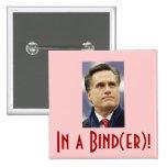 Mitt Romney - In a Bind(er)! Pin