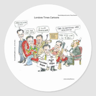 Mitt Romney In Therapy Funny Tees Cards Gifts Etc Classic Round Sticker