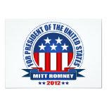Mitt Romney Invitación 12,7 X 17,8 Cm