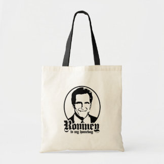 MITT ROMNEY IS MY HOMEBOY BUDGET TOTE BAG
