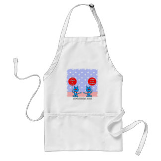 Mitt Romney is nuts vote for Obama Adult Apron
