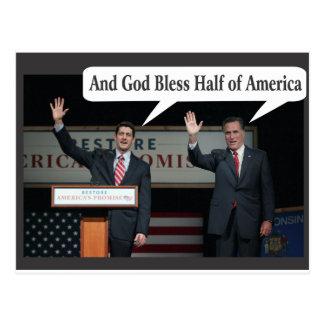 Mitt Romney le odia voto del 47% para Barack Obama Tarjetas Postales