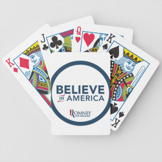 Mitt Romney Logo Believe In America Bicycle Playing Cards