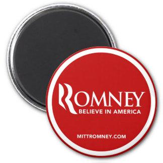 Mitt Romney Logo Believe In America (Red) Magnet