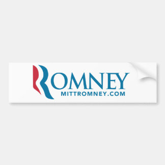 Mitt Romney Logo Bumper Sticker 2012 White Car Bumper Sticker