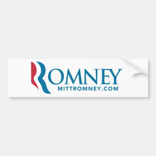 Mitt Romney Logo Bumper Sticker 2012 White