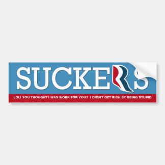 Mitt Romney - LOL Suckers! Bumper Sticker