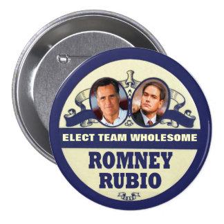 Mitt Romney / Marco Rubio 2012 Buttons