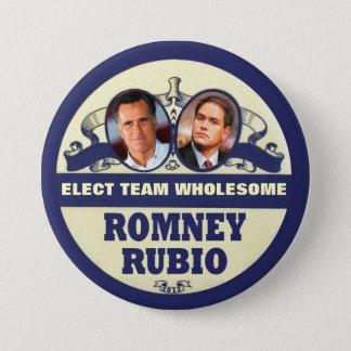 Mitt Romney / Marco Rubio 2012 Pinback Button