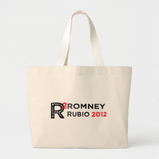 Mitt Romney Marco Rubio 2012 R2 Large Tote Bag