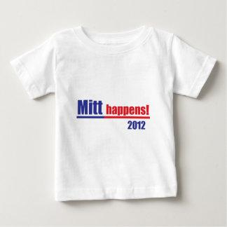 """Mitt Romney """"Mitt Happens"""" Baby T-Shirt"""