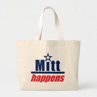 "Mitt Romney ""Mitt Happens"" Jumbo Tote Bag"