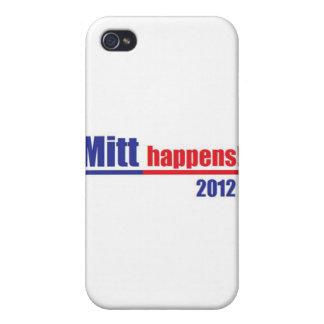 "Mitt Romney ""Mitt Happens"" iPhone 4 Cases"