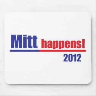 "Mitt Romney ""Mitt Happens"" Mouse Pad"