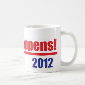 """Mitt Romney """"Mitt Happens"""" Classic White Coffee Mug"""