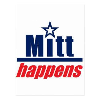 """Mitt Romney """"Mitt Happens"""" Postcard"""