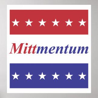 Mitt Romney Mittmentum poster