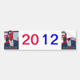 Mitt Romney Moron Mormon Bumper Sticker Pro-Obama
