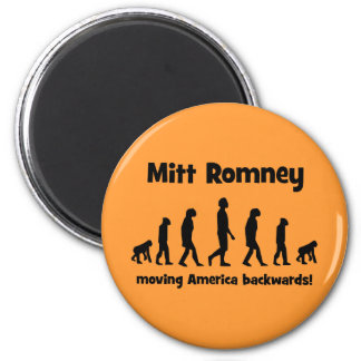 Mitt Romney moving America backwards 2 Inch Round Magnet