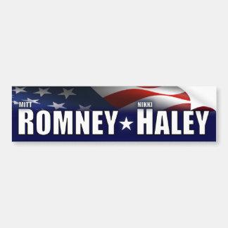 Mitt Romney - Nikki Haley- 2012 Pegatina De Parachoque