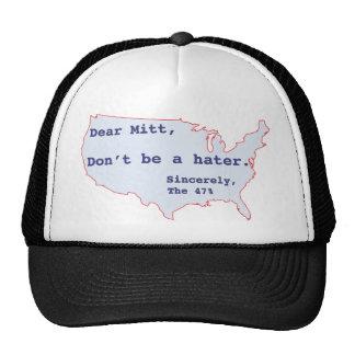 Mitt Romney odia el 47 del voto de América para O Gorros