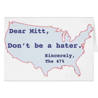 Mitt Romney odia el 47% del voto de América para O Tarjeta De Felicitación