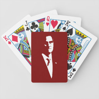 Mitt Romney Outline Bicycle Playing Cards