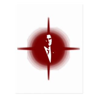 Mitt Romney Outline Postcard