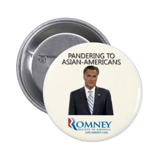 Mitt Romney panders to Asian-Americans Button