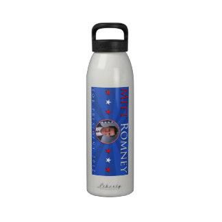 Mitt Romney para el presidente 2012 azul blanco ro Botella De Agua Reutilizable