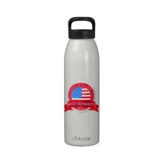 Mitt Romney para el presidente 2012 bandera americ Botella De Beber