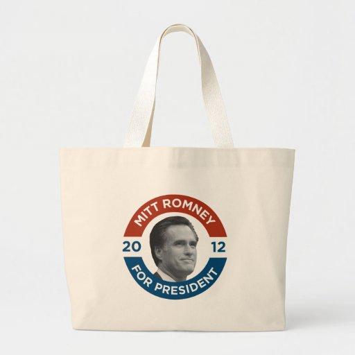 Mitt Romney para el presidente 2012 Bolsa Tela Grande