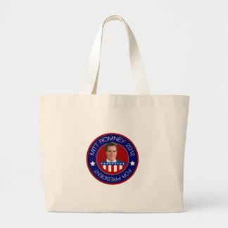 Mitt Romney para el presidente 2012 de los E.E.U.U Bolsa Tela Grande