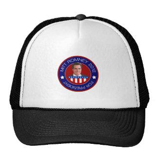Mitt Romney para el presidente 2012 de los E.E.U.U Gorras De Camionero